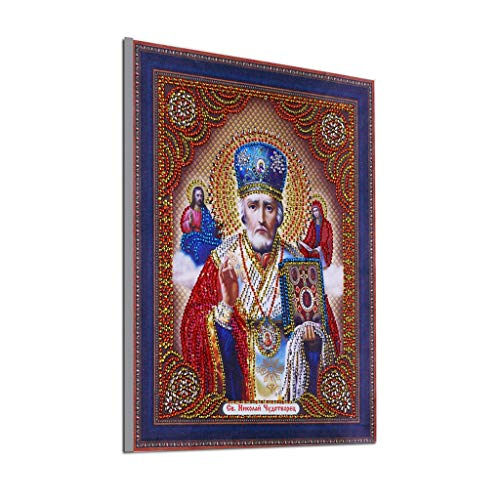Outique Religious Painting,Special Shaped Diamond Painting DIY 5D Partial Drill Cross Stitch Kits Crystal Art Craft -