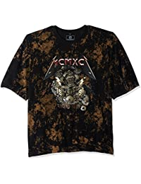 Southpole Men's Big and Tall Short Sleeve All Over Plastic Foil Tee