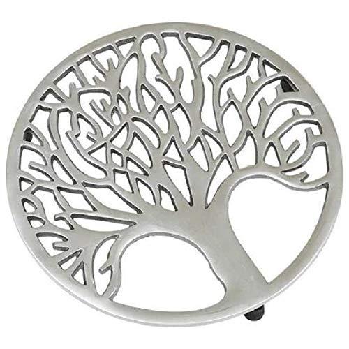 (Design Imports Tree of Life Silver Trivet)