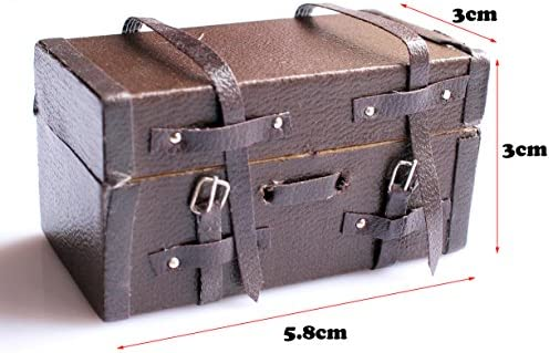 1:12 Dollhouse Miniature Floral Luggage Box Suitcase Dolls Accessories