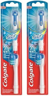 Colgate - 360° - cabezales para cepillo de dientes a pilas (dureza suave, 2 unidades)