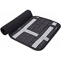 MUNTO Travel Electronics Elastic Organizer Board Management Sleeve Protective Bag for 10.5 Inch Tablet Ipad and Other Accessories