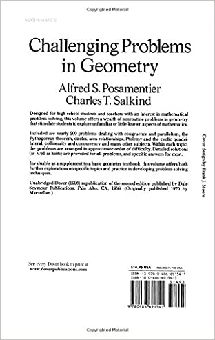 Challenging Problems in Geometry (Dover Books on Mathematics ...
