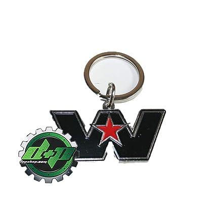 Amazon.com: Western Star WS Logo Emblema camiones llavero ...
