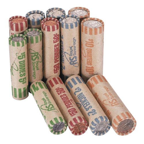 Royal Sovereign Assorted Coin Preformed Wrappers, 216 Count (FSW-216N)