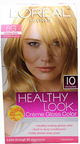 L'oreal Paris Healthy Look Crème Gloss- Soft Golden Blonde 8g (Pack of 6) by L'Oreal Paris