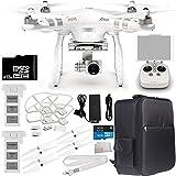 DJI Phantom 3 Advanced Quadcopter Drone w/ 1080p HD Video Camera & Manufacturer Accessories + DJI Flight Battery + Water-Resistant Backpack + 32GB microSD Memory Card + MORE
