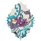 Deny Designs  Valentina Ramos, Whale Blossom, Baroque Clock, Medium