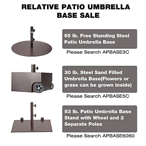 Abba Patio Rectangular Patio Umbrella Outdoor Market Table Umbrella with Push Button Tilt and Crank, 6.6 by 9.8 Ft, Beige
