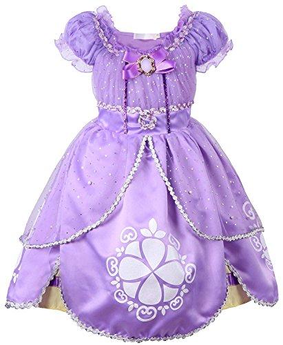 Rizoo Little Girls Cute Short Sleeve Summer Dresses