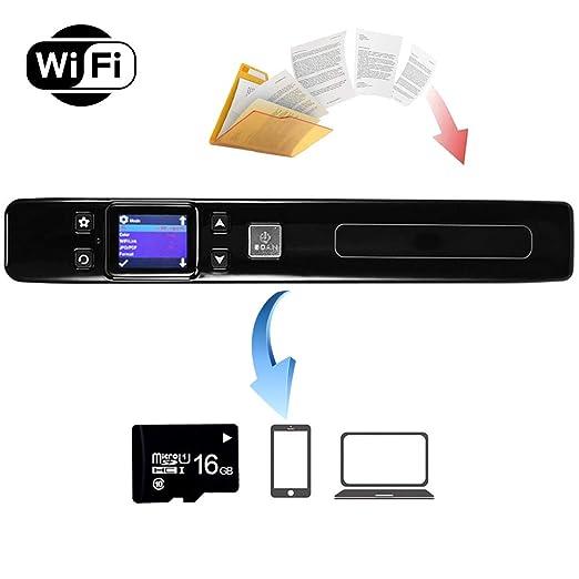 EJOYDUTY Escáner WiFi de Mano 1050DPI, Escaneo Portátil de ...