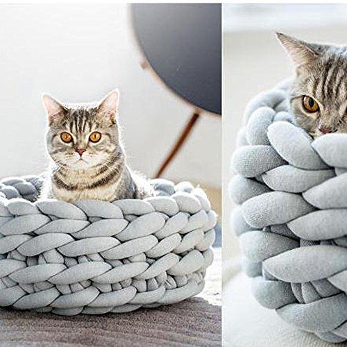 80 Meters Super Chunky Yarn Jumbo Roving Cotton Yarn Machine Washable Tube Cotton Yarn Lilac Giant Yarn DIY Chunky Blanket/Braid Rug/Cat Cave by Hand Knit Yarn (Image #3)