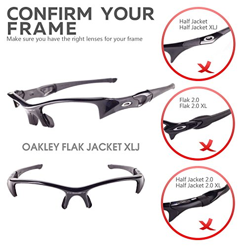 New Walleva Polarized Vented Titanium Lenses Grey Earsocks 4 Oakley Flak Jacket XLJ