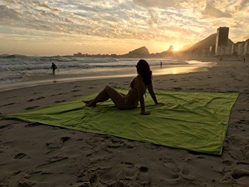 Monster Towel The Worlds Biggest Towel. Big Beach Towel Microfiber Oversized Large Huge Beach Towel(Lime Greeen) by Monster Towel (Image #3)