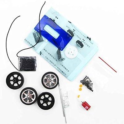 Lookatool 1 Mini Solar Powered Toy DIY Car Kit Children Educational Gadget Hobby: Clothing