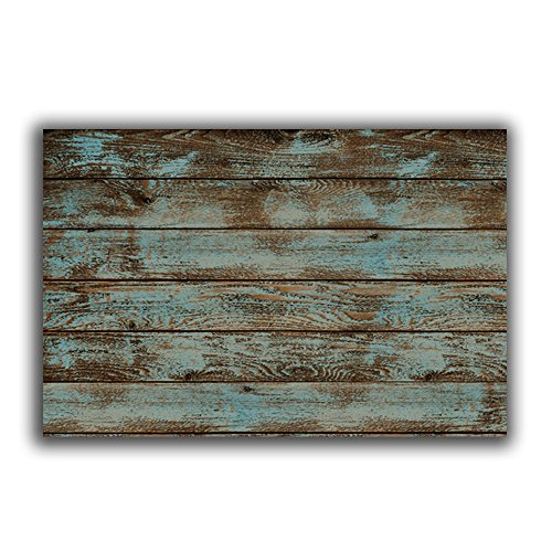 (Vandarllin Rustic Old Barn Wood Doormats Indoor/Outdoor Home Decor Welcome Mat Rug Carpet - 18