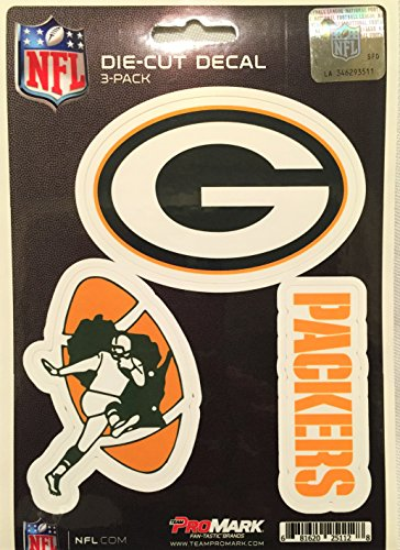 NFL Green Bay Packers Team Decal, 3-Pack - Team Logo Green