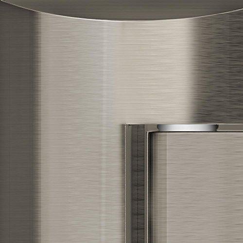 DreamLine Visions 56-60 in. Width, Frameless Sliding Shower Door, 1/4'' Glass, Brushed Nickel Finish by DreamLine (Image #1)