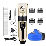 Horatii Dog Clippers Cat Shaver, RIRGI Clippers Detachable Blades Cordless USB Rechargeable, Grooming
