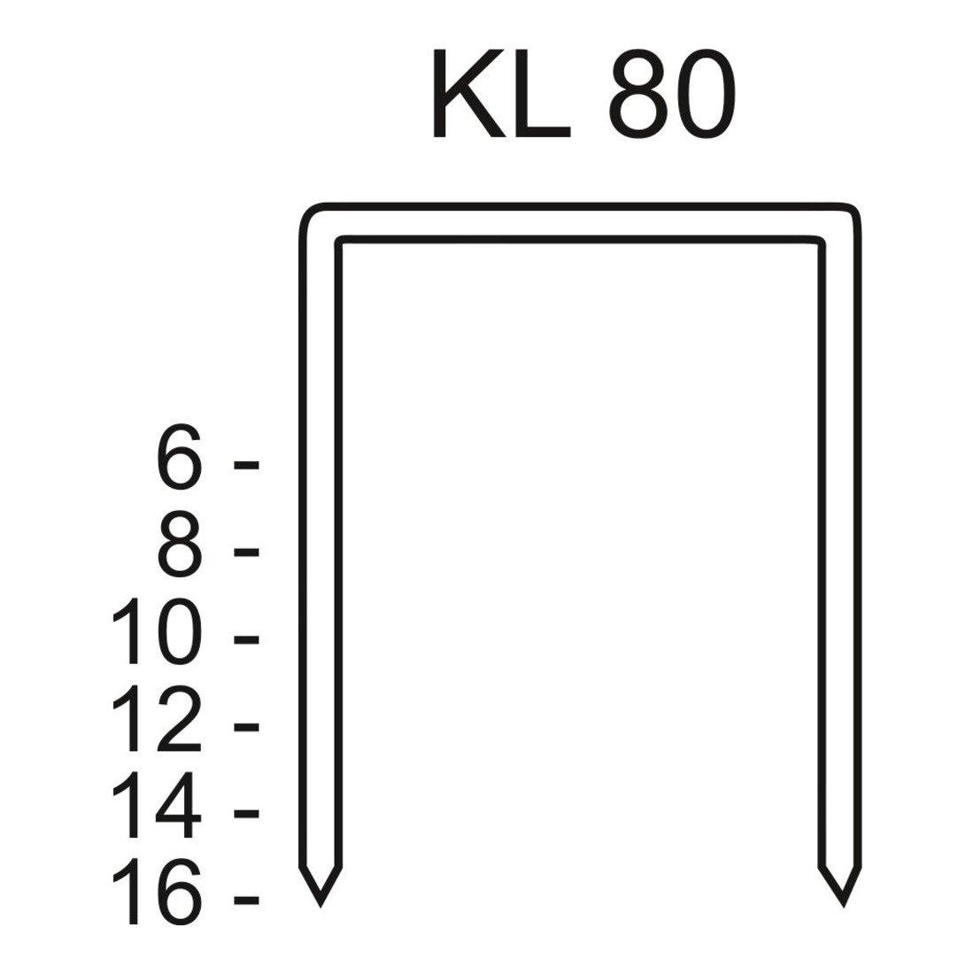 Schneider C420005 Heftklammern KL 80/10 CNK, 3000-Stü ck