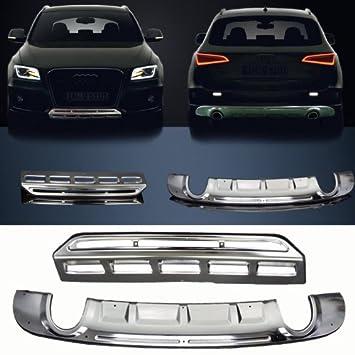 Bumper protector proteger guardia portaequipajes difusor con el automóvil tunning exterior interior (se ajusta: Audi Q5 2012 2013 2014): Amazon.es: Coche y ...