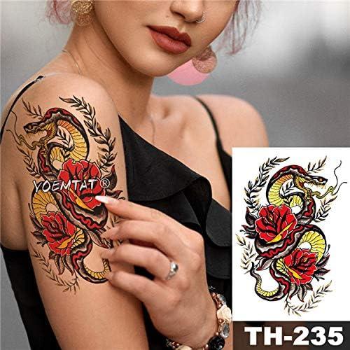 Yyoutop Impermeable e Tatuaje Pegatina Tiger pétalos de Rosa ...