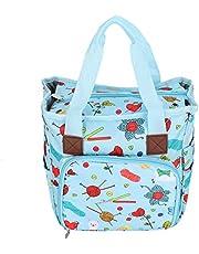 Fashion Appearance Design, Yarn Skeins Bag, Portable Crochet Storage Tote Can Be Used As Shopping(Cartoon Handbag)
