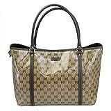 Outlet Gucci Women's Beige Chrystal Gg Canvas Tote Shoulder Bag 265695 Fz1fg