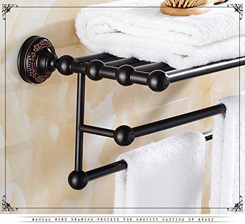 Damjic 黒のすべての銅製バスルームバスタオルラックアンティークのバスルームのタオルラック、 70 cm B071SF149J 70CM 70CM