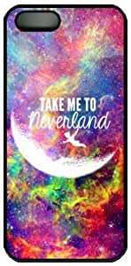 Galaxy Space Quote Take Me To Neverland Theme Hard Back Cover Case For Iphone 5 5S