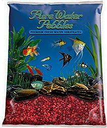 Aquarium Fish Tank Gravel Marine Pure Water Pebbles Color Rocks - Currant Red 5 Lbs.