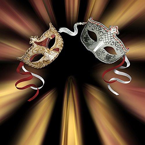 Photography Backdrop - Masquerade Gold - 10x10 Ft. Seamless (Masquerade Ball Backdrops)
