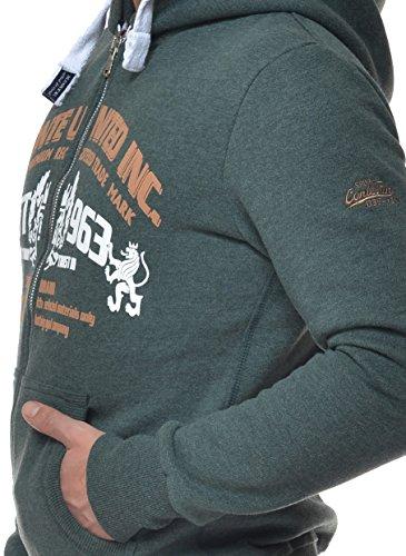 Shirt M Men Verde Sweat con Raul Chaqueta Conte sudadera Musgo hombre capucha qttrBS1