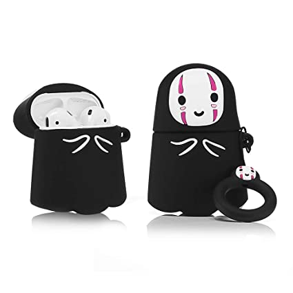 ZAHIUS Airpods Silicone Case Funny Cover Compatible for Apple Airpods 1&2 [Cartoon Pattern][Best Gift for Girl Boy](Faceless Man)