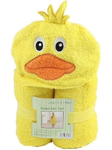 Peanut   Ollie Hooded Yellow Duckie Bath Towel Child Size 100  Cotton Cute Duck