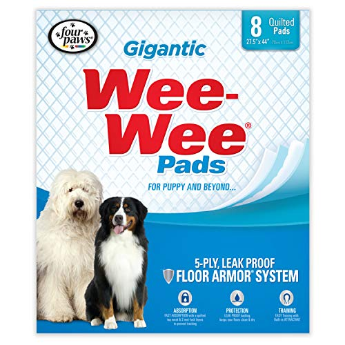 Wee Wee Dog Pee Pads Extra Large | 8 Count | Puppy Training Pee Pads for Dogs | Gigantic Size (X-large Wee Wee Pads)