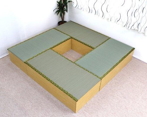 畳 ボックス 収納 高床式 ユニット 1畳タイプ4本 セット ナチュラル UT-SET-4NA J-Supply   B008ECOGL0