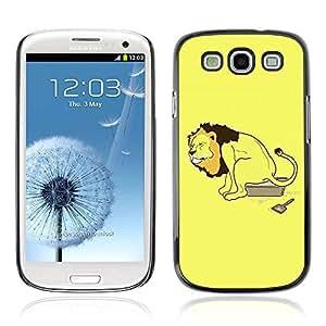 A-type Arte & diseño plástico duro Fundas Cover Cubre Hard Case Cover para Samsung Galaxy S3 III / i9300 i717 ( Ilustración divertida linda del león )