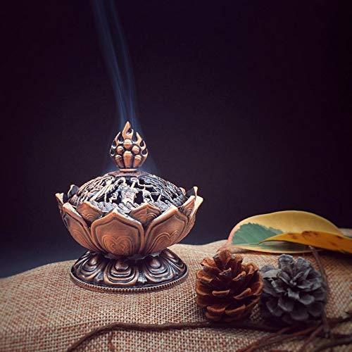 Saint tib/étain Lotus con/çu encens br/ûleur en alliage de zinc Bronze Mini encens br/ûleur incandescent en m/étal Craft Home Decor