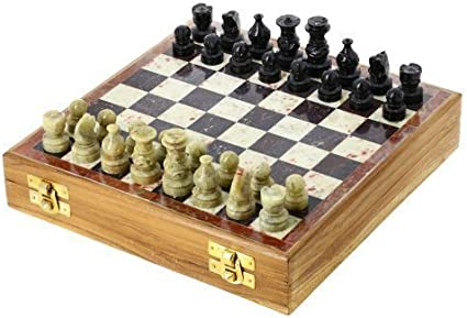 Amazon Com Shalinindia Rajasthan Stone Art Unique Chess Sets And Board Indian Handmade Unique Gifts Size 8x8 Inches Toys Games