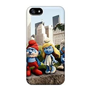 Hot Fashion GMT11152AlhA Design Cases Covers For Iphone 5/5s Protective Cases (the Smurfs)