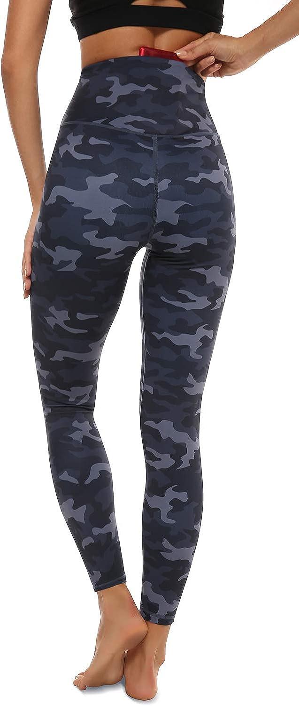 Print Leggings with Hidden Pockets Womens JOYSPELS Womens High Waisted Gym Leggings
