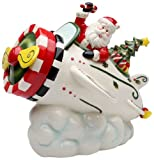 Cosmos Gifts 10653 Santa in Airplane Cookie Jar, 9-5/8-Inch