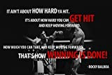 Rocky Balboa Motivational Quote Doesn't Matter How Hard You hit. Poster Paper Print