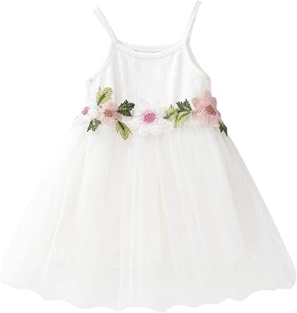 Little Baby Girls Floral Boho Summer Dress Toddler Off Shoulder Pleated Casual Dress Beach Sundress Tutu