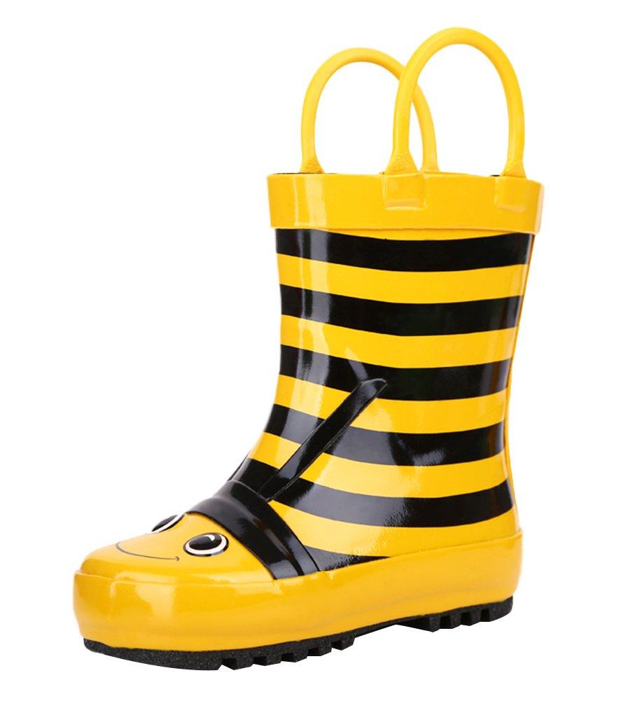 SK Studio Kinder Halbschaft Gummistiefel Frosch Regenstiefel Jungen Rutschfest Stiefeletten Mädchen Wasserdicht Schuhe Grün 21 EU lzz9P