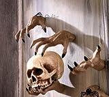 Creepy Hands Black Fingernails Clawing Grabbing Wall Hangers Halloween Haunted House Prop Decor (4 pc 2 clawing 2 grabbing hand)