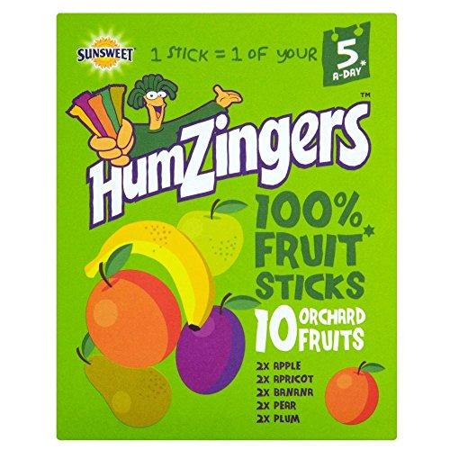 Humdinger Humzigers Fruit Stix Orchard Fruit Variety Pack (10x13g) - Pack of (Variety Stix)