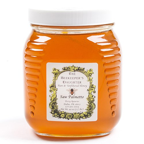 Raw Saw Palmetto Honey by the Beekeeper's Daughter - 2.5 lb Jar (2.5 pound) ()