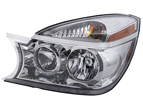 HEADLIGHTSDEPOT Chrome Housing Halogen Headlight Compatible with Buick Rendezvous 2004-2007 Includes Left Driver Side Headlamp Buick Rendezvous Headlight Assembly